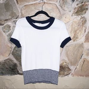 Rag & Bone/Jean Raglan Neck Short Sleeve Sweater